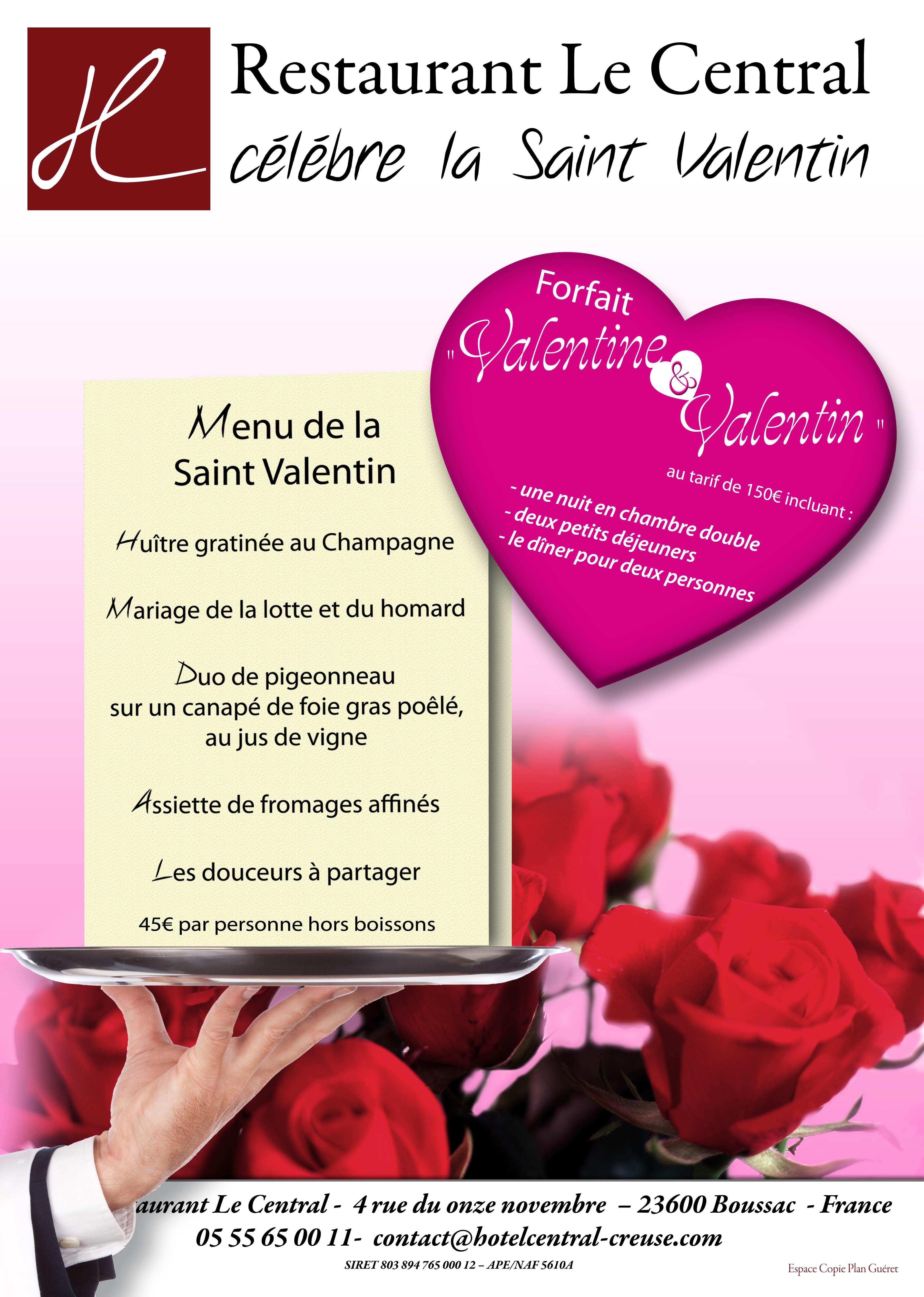 Restaurant Cher  St Valentin