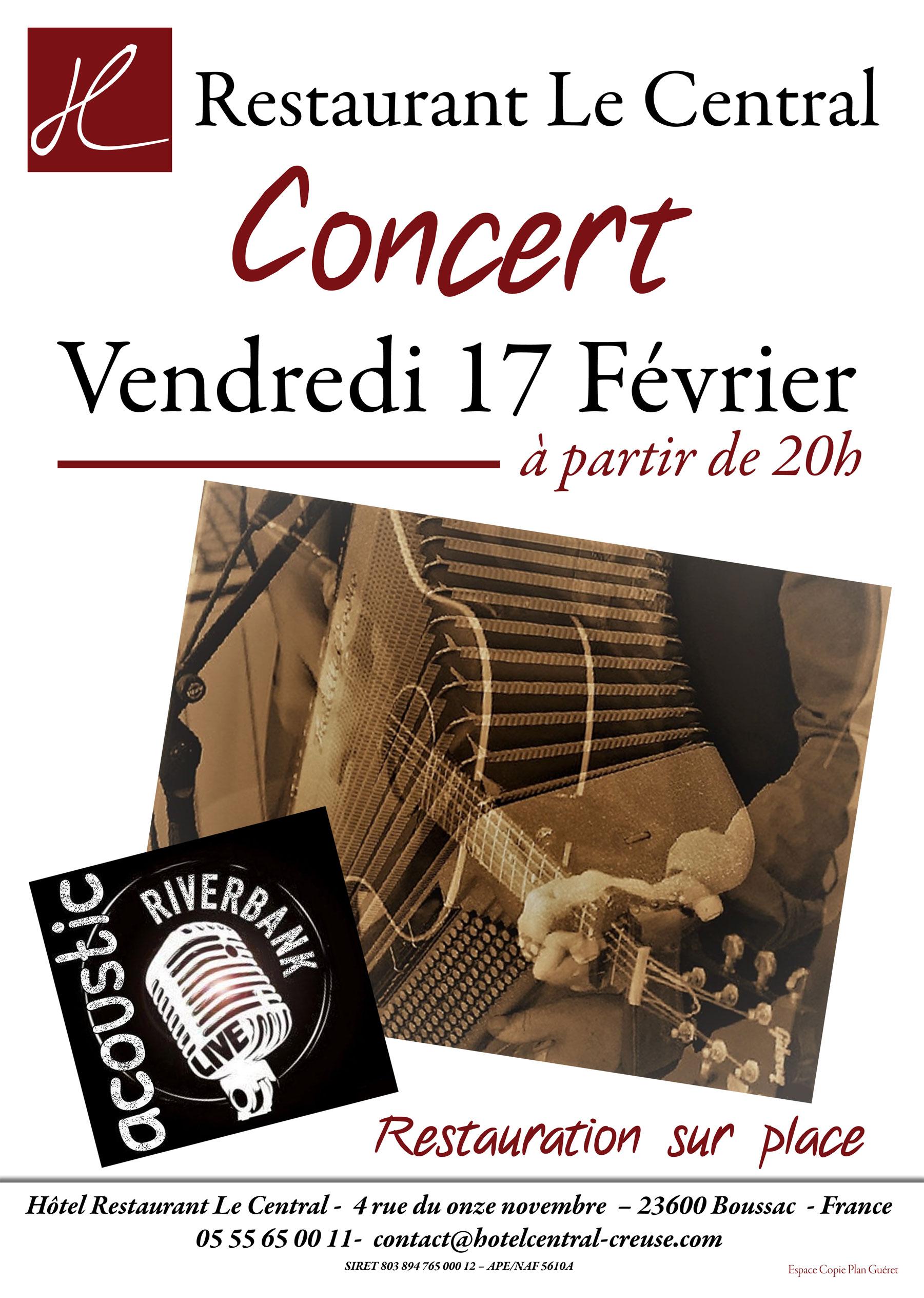 Concert 17 fevrier 17 Le CENTRAL